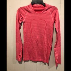 Lululemon Red long sleeve top 2
